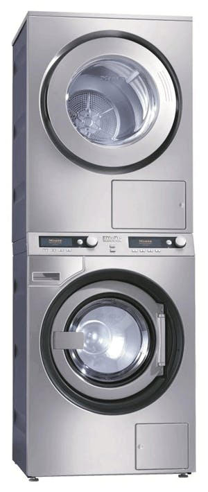 Stackable Miele washing machine and tumble dryer