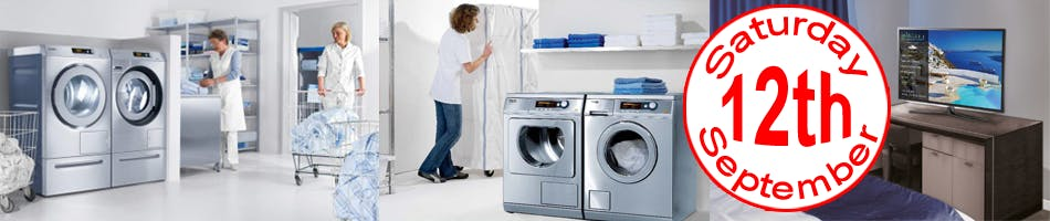 Washing and drying machines in hospitality venues and hotels