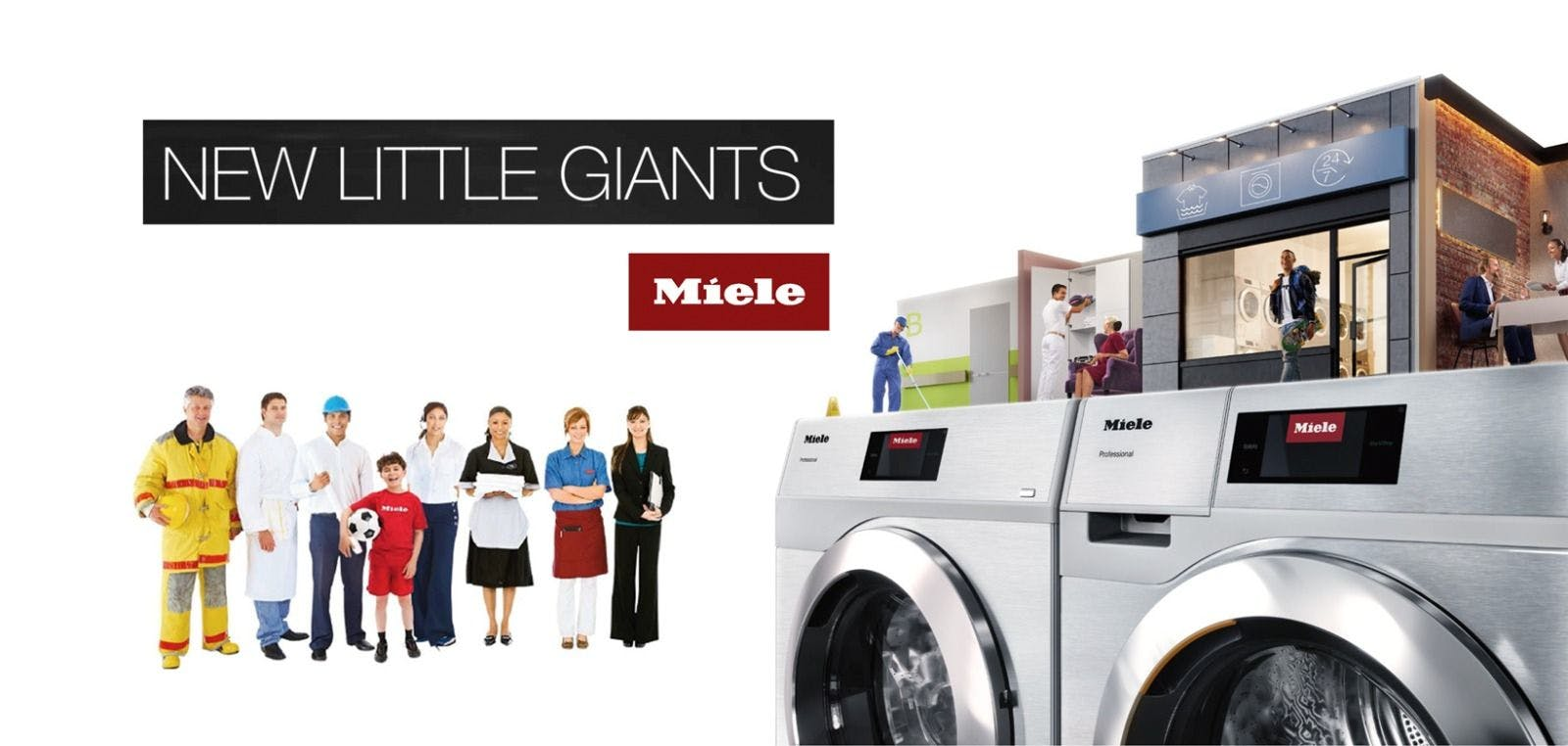 Miele's new generation Little Giants continue to raise the standards in commercial laundry.