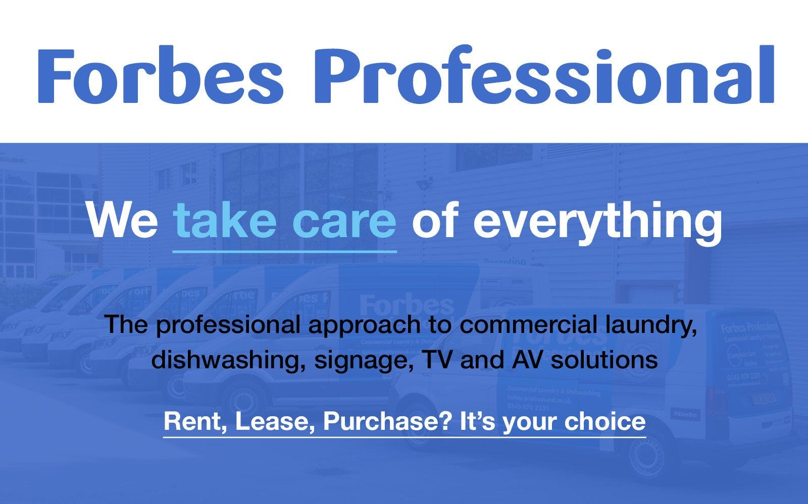 Forbes Professional announces further expansion within the commercial laundry sector.